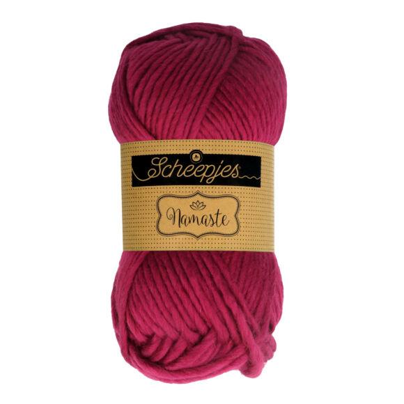 Scheepjes Namaste 631 Revolved Triangle - sötét rózsaszín gyapjú fonal - dark pink yarn blend