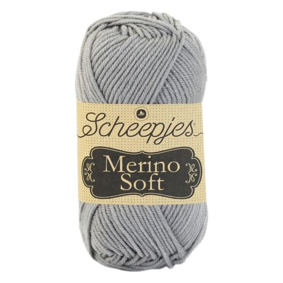 Scheepjes Merino Soft 604 Lowry - szürke gyapjú fonal - gray yarn blend