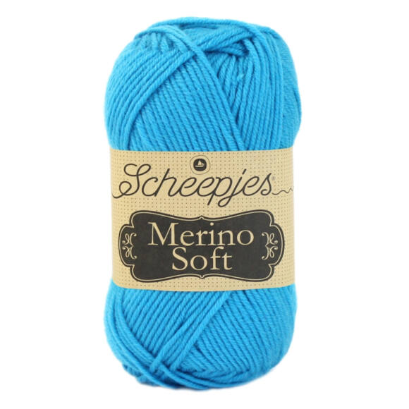 Scheepjes Merino Soft 615 Soutine - kék gyapjú fonal