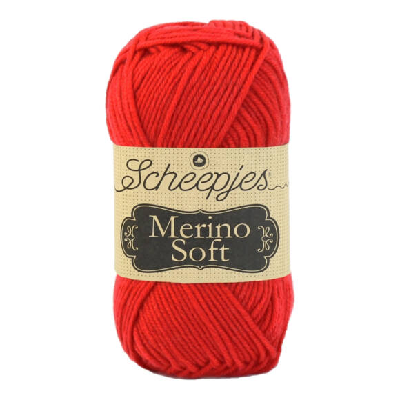 Scheepjes Merino Soft 621 Picasso - piros gyapjú fonal - red yarn blend