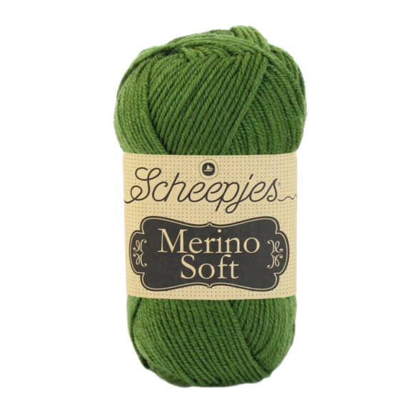 Scheepjes Merino Soft 627 Manet - sötétzöld gyapjú fonal
