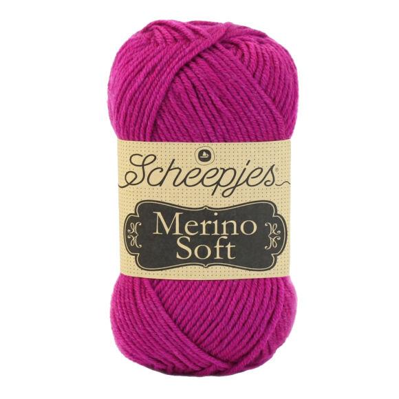 Scheepjes Merino Soft 636 Carney - sötét rózsaszín gyapjú fonal