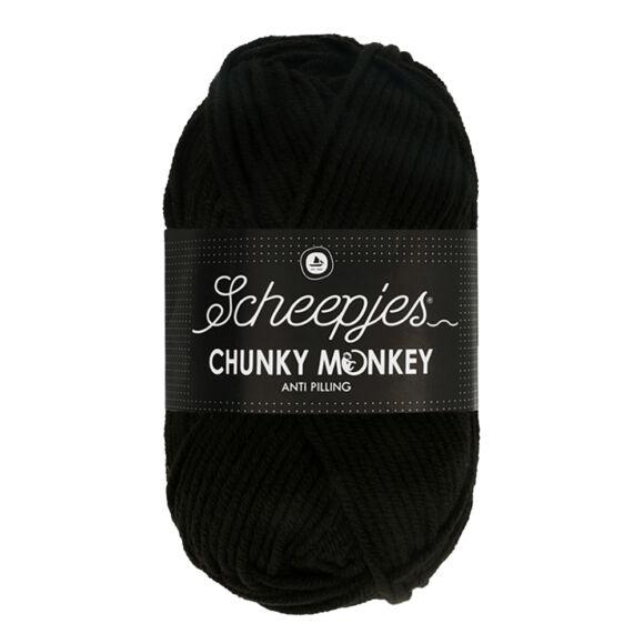 Scheepjes Chunky 1002 Black - fekete akril fonal - acrylic yarn