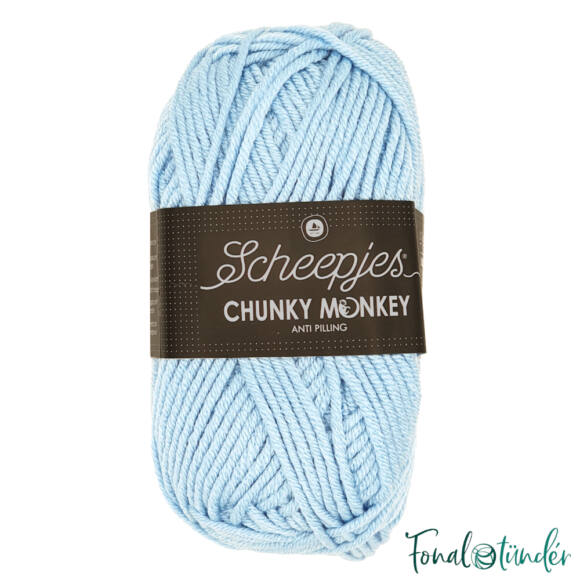 Scheepjes Chunky Monkey 1019 Powder Blue - púderkék akril fonal