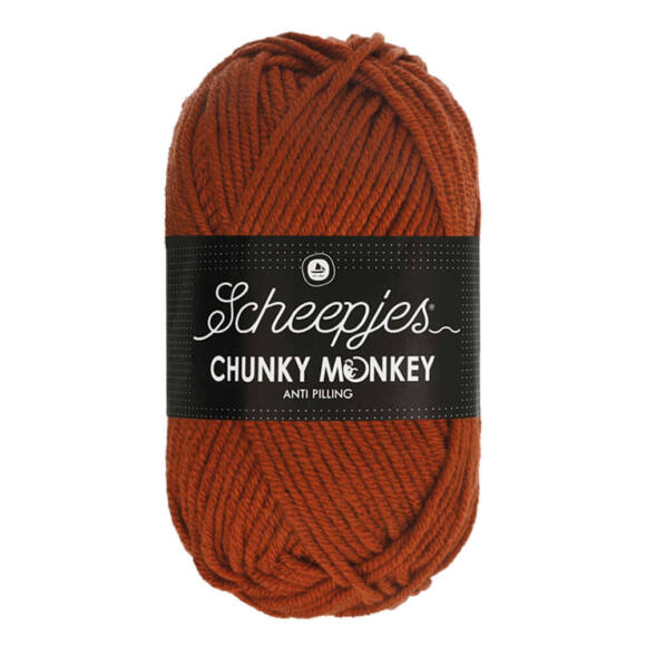 Scheepjes Chunky Monkey 1029 Rust - rozsdabarna akril fonal
