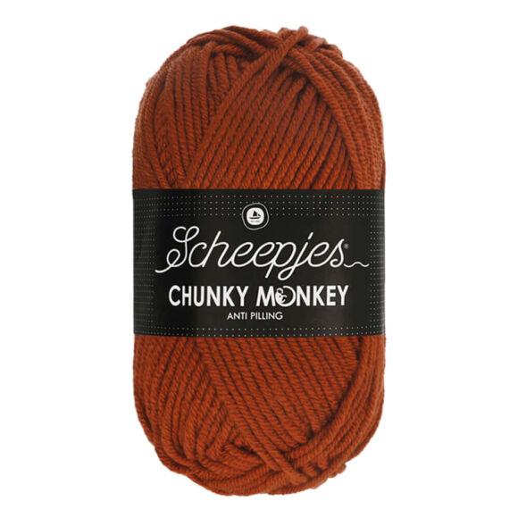 Scheepjes Chunky Monkey 1029 Rust - rozsdabarna akril fonal - reddish-brown acrylic yarn