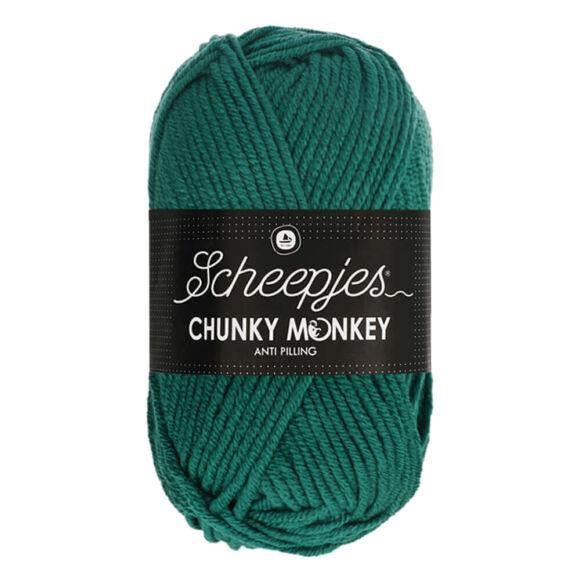 Scheepjes Chunky Monkey 1062 Evergreen - hideg zöld akril fonal - cool-green acrylic yarn