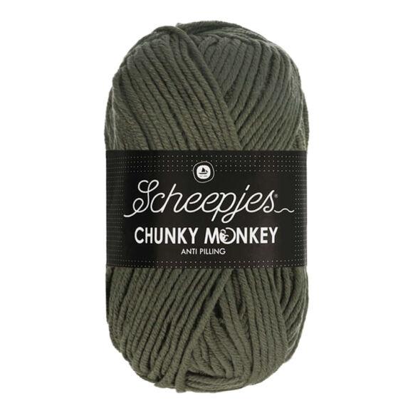 Scheepjes Chunky Monkey 1063 Steel - acélszürke akril fonal - gray acrylic yarn
