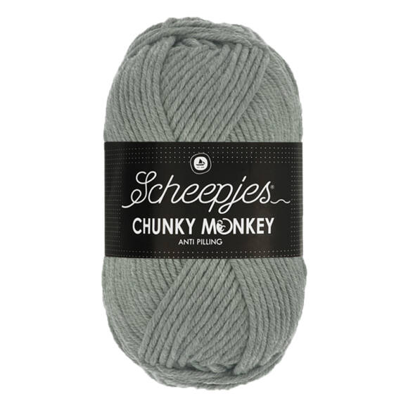Scheepjes Chunky Monkey 1099 Mid Grey - szürke akril fonal