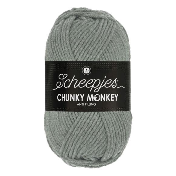Scheepjes Chunky Monkey 1099 Mid Grey - szürke akril fonal - acrylic yarn