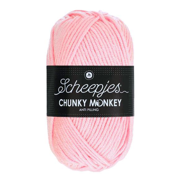 Scheepjes Chunky Monkey 1130 Blush - púderrózsaszín akril fonal