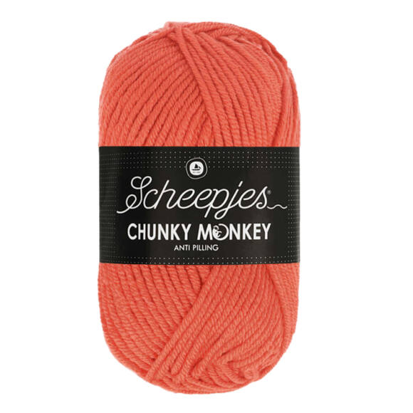 Scheepjes Chunky Monkey 1132 Coral - korall piros akril fonal