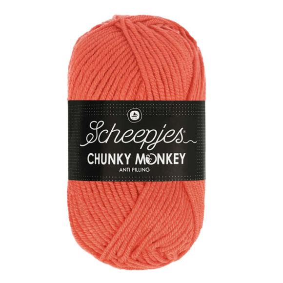 Scheepjes Chunky Monkey 1132 - korall piros akril fonal - red-orange acrylic yarn