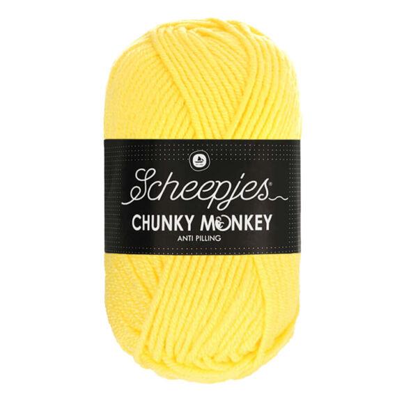 Scheepjes Chunky Monkey 1263 Lemon - citromsárga akril fonal - lemon-yellow acrylic yarn