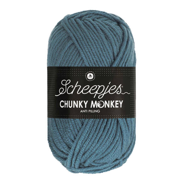 Scheepjes Chunky Monkey 1302 Air Force Blue - kék akril fonal
