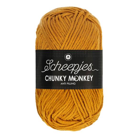 Scheepjes Chunky Monkey 1709 Ochre - okker sárga akril fonal - yellow acrylic yarn