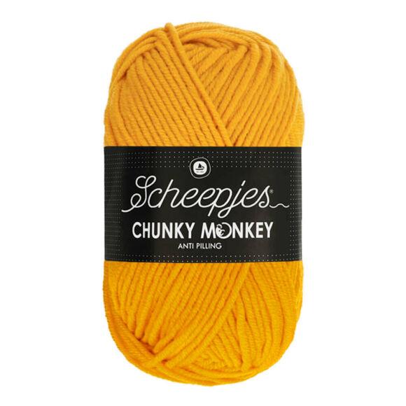 Scheepjes Chunky Monkey 1114 Golden Yellow - aranysárga akril fonal - acrylic yarn