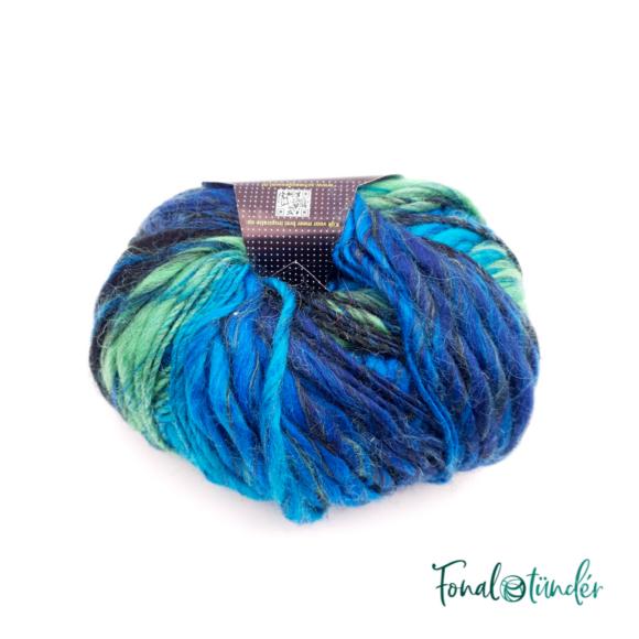 Scheepjes Felina 001 - kék-zöld gyapjú fonal - green-blue gradient yarn blend
