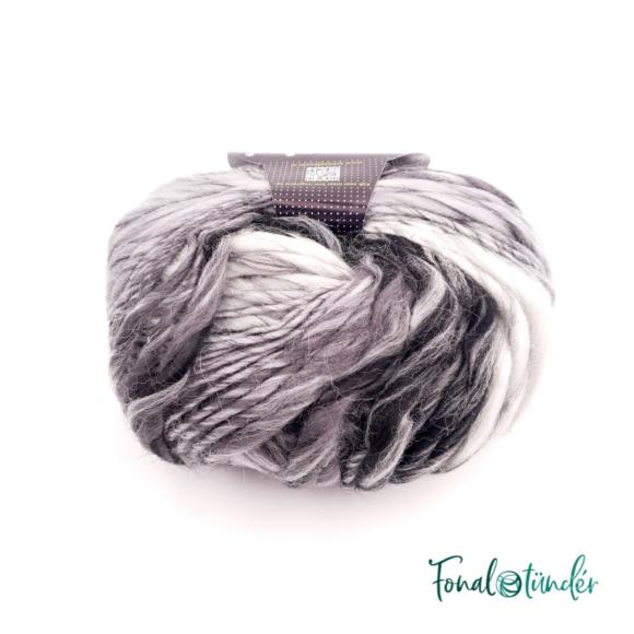 Scheepjes Felina 021 - fekete-fehér színátmenetes gyapjú fonal
