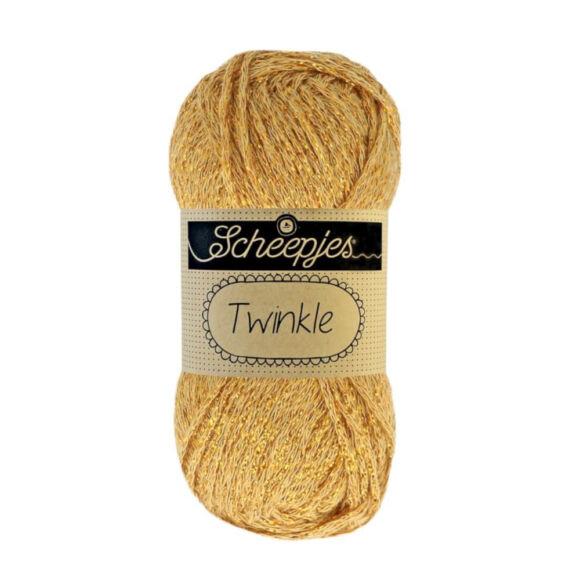 Scheepjes Twinkle 941 - csillogó arany pamut fonal - glittering gold cotton yarn