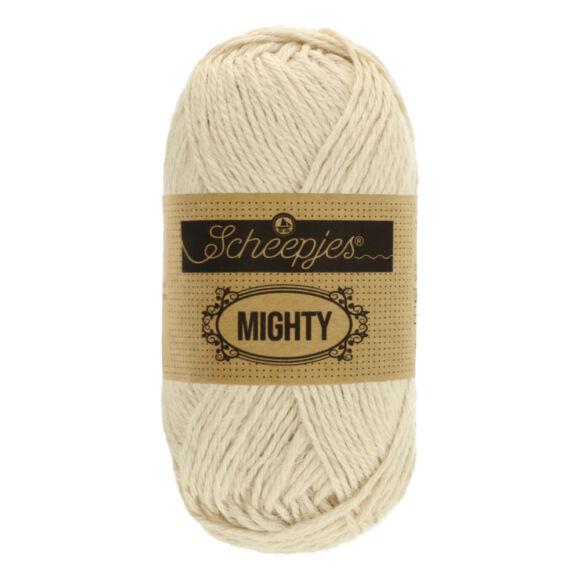 Scheepjes Mighty 751 Stone - világos drapp pamut-juta fonal - beige yarn