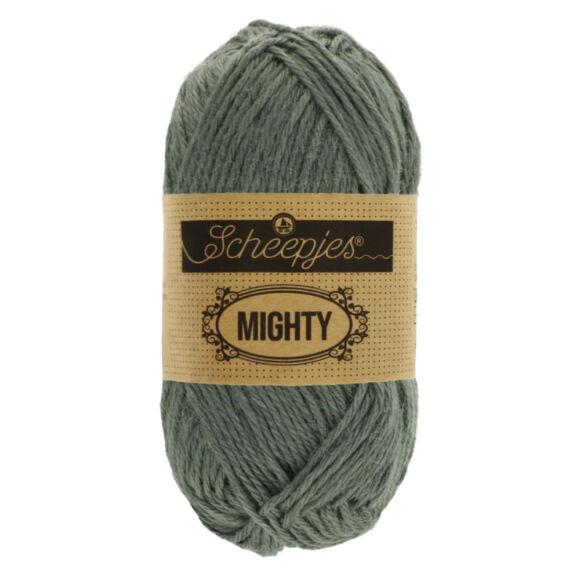 Scheepjes Mighty 755 Mountain - szürke pamut-juta fonal - gray yarn