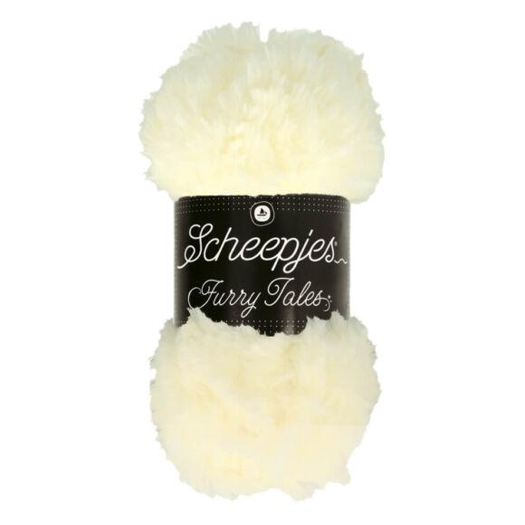Scheepjes Furry Tales 971 Snow Queen - fehér bundás fonal - white fluffy yarn