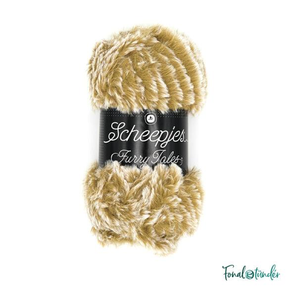 Scheepjes Furry Tales 972 Wood Cutter - világosbarna bundás fonal - brown fluffy yarn