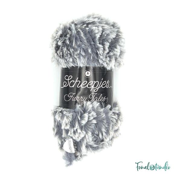 Scheepjes Furry Tales - 979 Big Bad Wolf - szürke bundás fonal