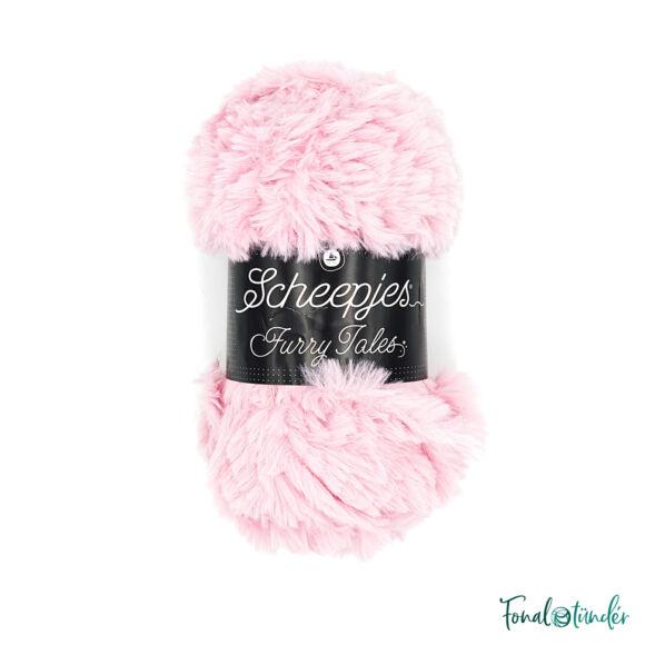 Scheepjes Furry Tales - 985 Little Pig - rózsaszín bundás fonal