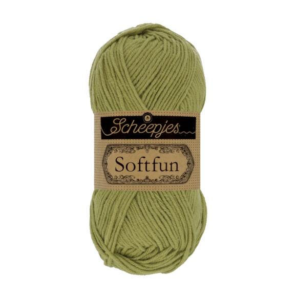 Scheepjes Softfun 2531 Olive - green - olívazöld - pamut-akril fonal - yarn blend