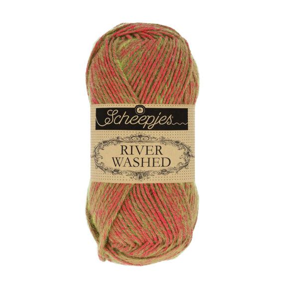 Scheepjes River Washed 947 Seine - piros-zöld fonal