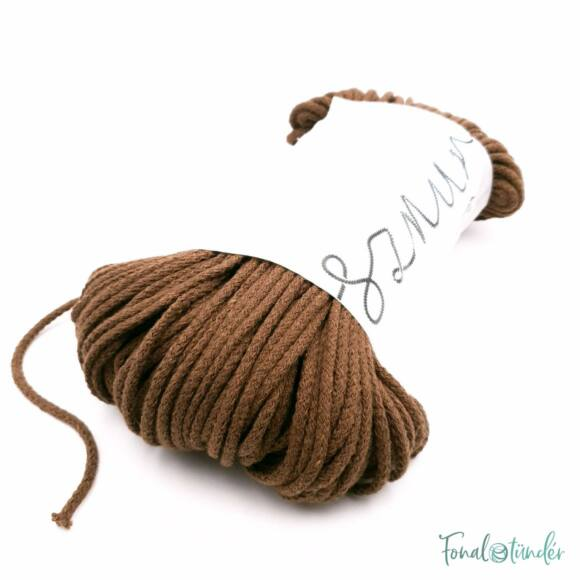 MILA Sznur cotton cord - chocolate-brown - pamut zsinórfonal - csokoládé barna színű - 3mm
