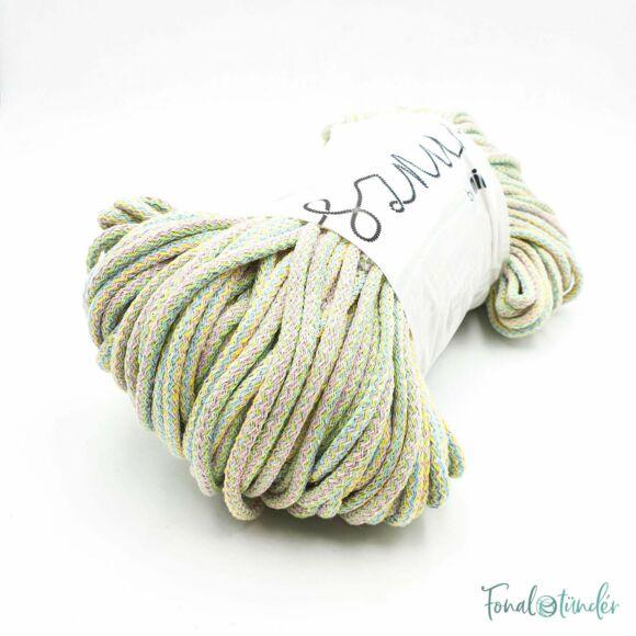 MILA Sznur cotton cord - multicolor pastel - pamut zsinórfonal - többszínű pasztell - 5mm