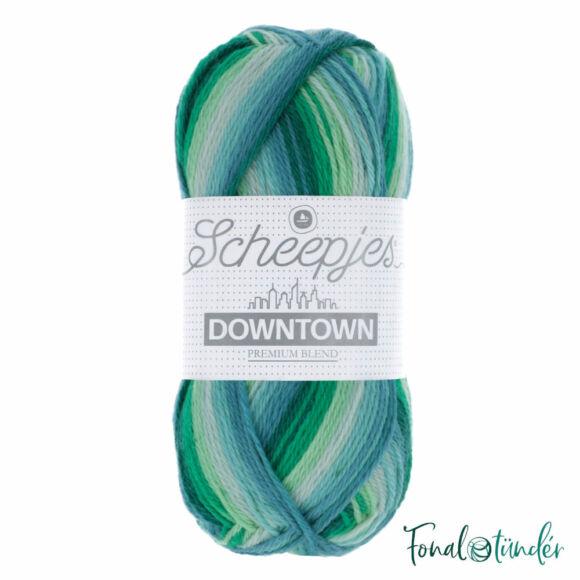 Scheepjes Downtown 403 Leafy Suburb - zöld-türkiz gyapjú fonal - wool yarn blend