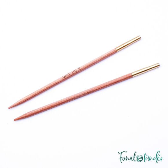 KnitPro Basix Birch - cserélhető fa körkötőtű fej - 3.5mm