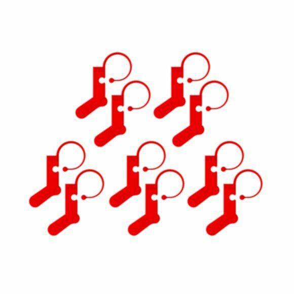Addi - zoknis szemjelölők - red sock stitch markers - 10db