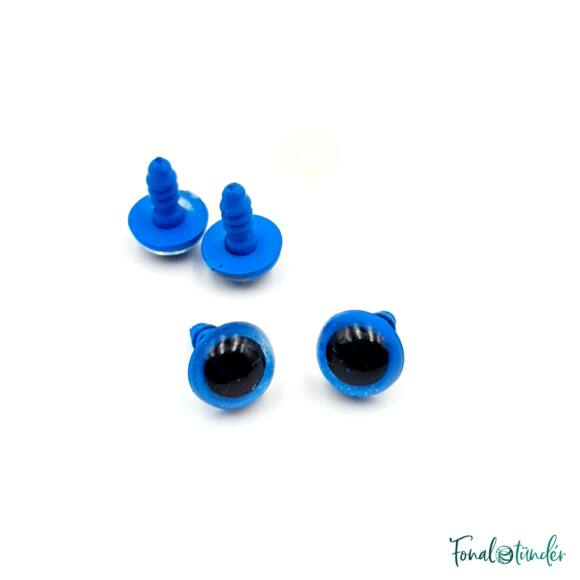 Kék baba/figura szemek - biztonsági - Blue safety eyes -10mm