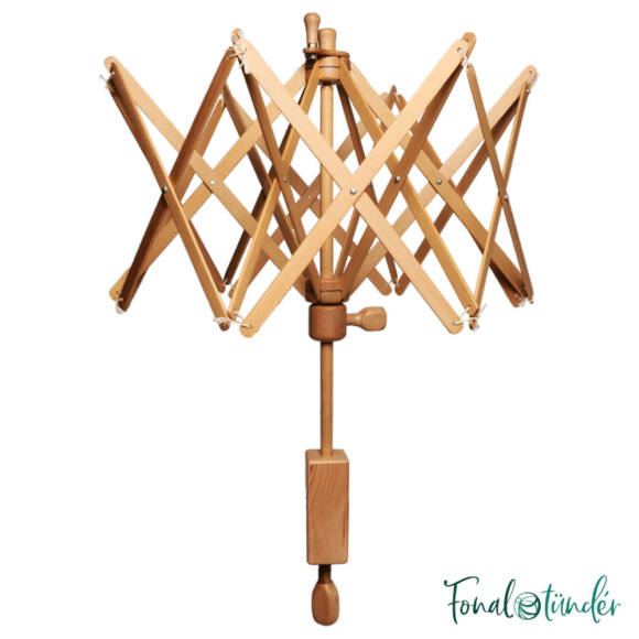 KnitPro - birch umbrella yarn winder - nyírfa motolla - fonaltartó gombolyításhoz