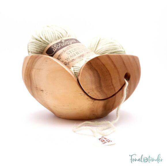Kézműves Fa Fonalvezető Tál - Handmade Wooden Yarn Bowl