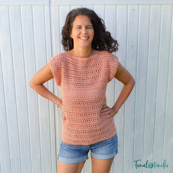 Twinkle Top - crochet pattern - női felső - horgolásminta
