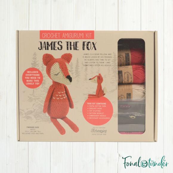 James a Róka - horgolásminta + fonal csomag - Amigurumi - James the Fox - crochet diy kit