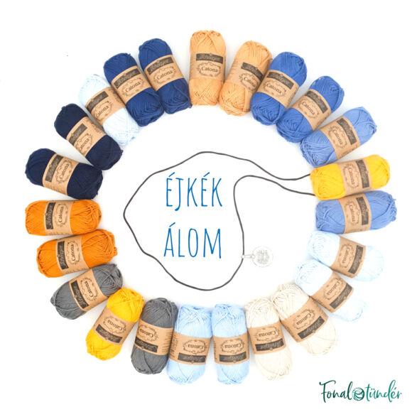 Ékkék álom - babatakaró fonal+eszköz csomag - Night-blue Dream - baby blanket yarn+tool box