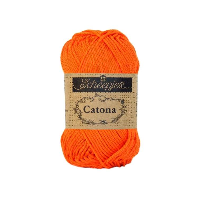 Scheepjes Catona 189 Royal orange  - pamut fonal  - cotton yarn