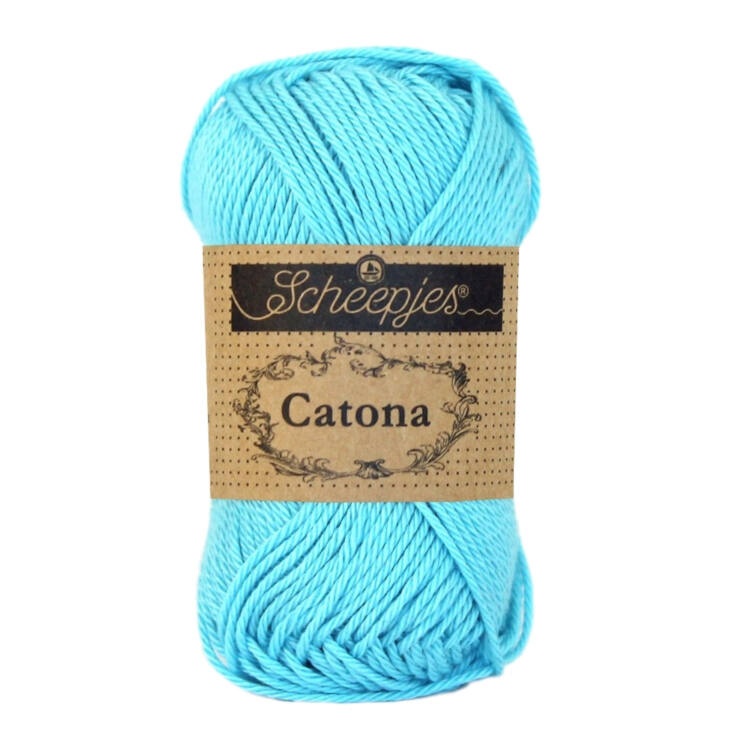 Scheepjes Catona 397 Cyan - blue - kék - pamut fonal  - cotton yarn