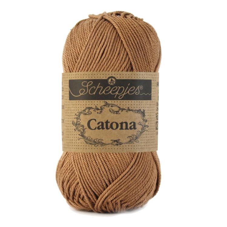 Scheepjes Catona 503 Hazelnut - brown - barna - pamut fonal  - cotton yarn