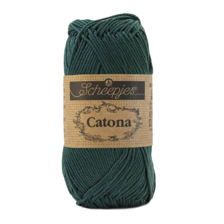 Scheepjes Catona 525 Fir - green - fenyőzöld - pamut fonal  - cotton yarn