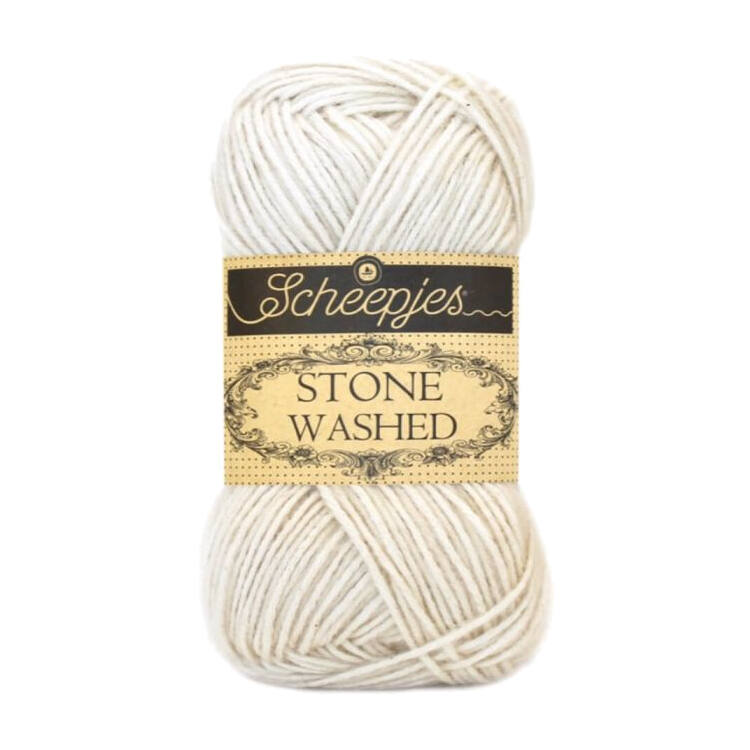 Scheepjes Stone Washed 801 Moon Stone - pamut fonal - cotton yarn