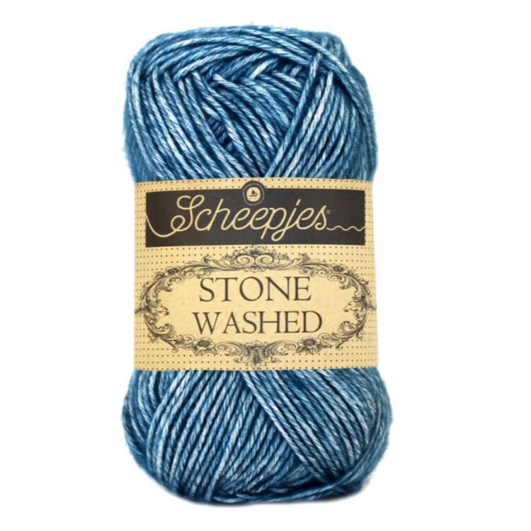 Scheepjes Stone Washed 805 Blue Apatite - pamut fonal - cotton yarn