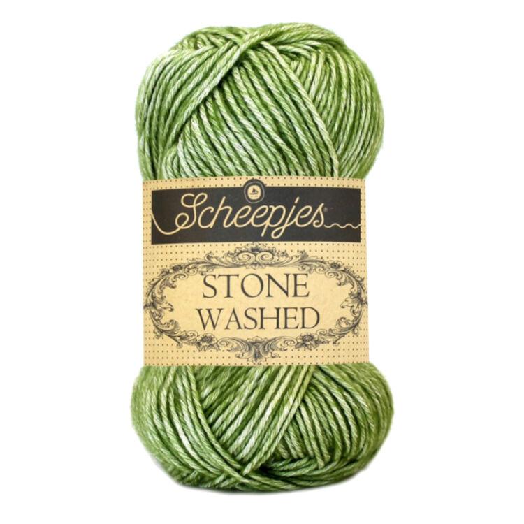 Scheepjes Stone Washed 806 Canadian Jade - zöld pamut fonal - green cotton yarn